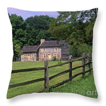 1e140 Caesar Creek Pioneer Village Photo Throw Pillow