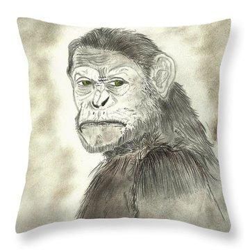 Caesar Throw Pillow by Nicole Burrell