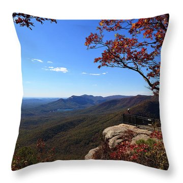 Caesars Head State Park In Upstate South Carolina Throw Pillow