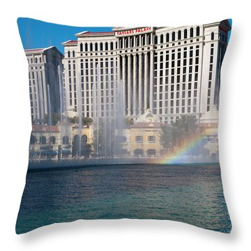 Caesar's Rainbow Throw Pillow by Rae Tucker