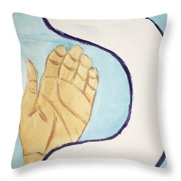 Caf Palm Throw Pillow