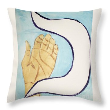 Caf Palm Throw Pillow