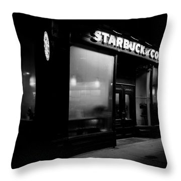 Cafe At Night  Throw Pillow by Andrew Fare