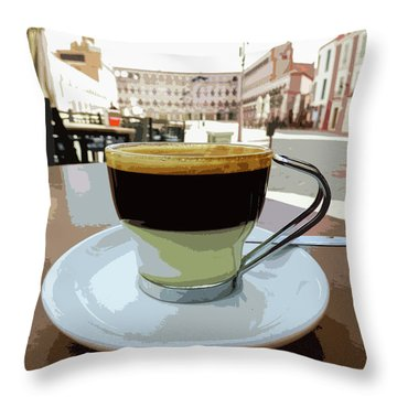 Cafe Bombon Throw Pillow