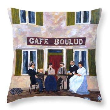 Cafe Boulud Throw Pillow by Diane Arlitt