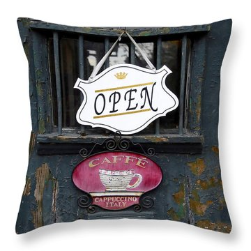 Cafe Cappuccino Throw Pillow by David Lee Thompson