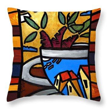 Cafe Caribe  Throw Pillow