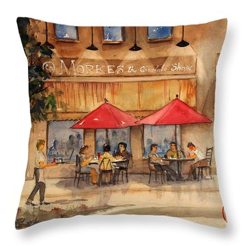 Cafe Chocolate Throw Pillow