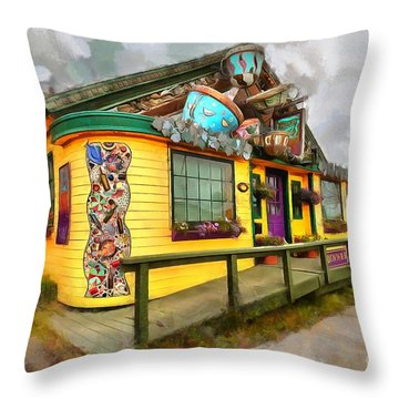Cafe Cups Throw Pillow