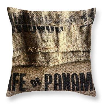 Cafe De Panama Throw Pillow