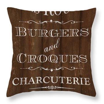 Cafe De Paris 1 Throw Pillow