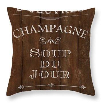 Cafe De Paris 2 Throw Pillow
