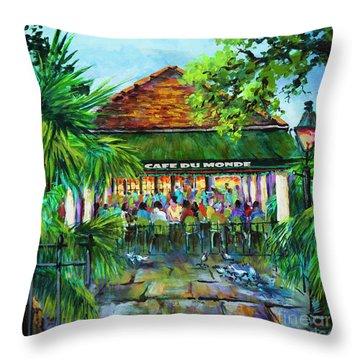Cafe Du Monde Morning Throw Pillow