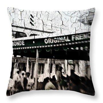 Cafe Du Monde Throw Pillow by Scott Pellegrin