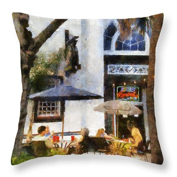 Throw Pillow featuring the digital art Cafe by Francesa Miller
