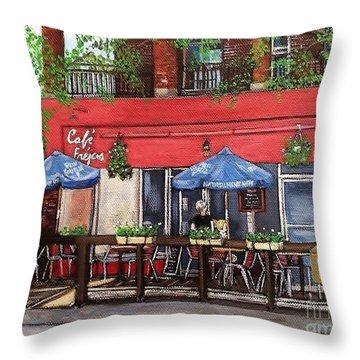 Cafe Frejus Verdun Throw Pillow