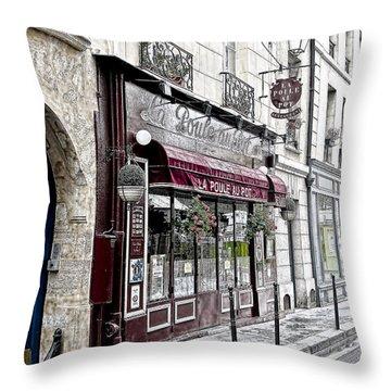 Cafe In Paris Throw Pillow by J Pruett