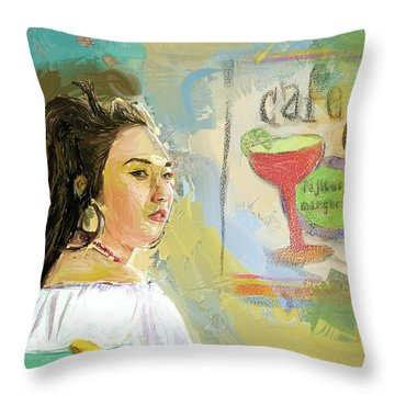 Cafe Ole Girl Throw Pillow