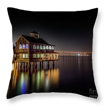 Cafe On The Port Throw Pillow