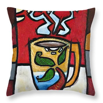 Cafe Palmera Throw Pillow