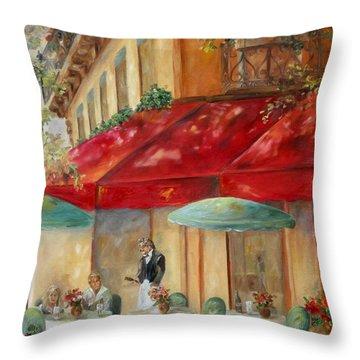 Cafe' Paris Throw Pillow by Chris Brandley