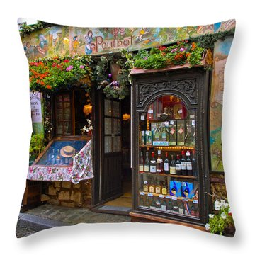Cafe Poulbot Throw Pillow by Harry Spitz