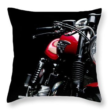 Cafe Racer Throw Pillow