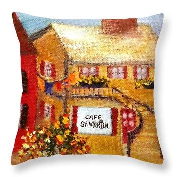 Cafe St.martin Throw Pillow by Annie St Martin