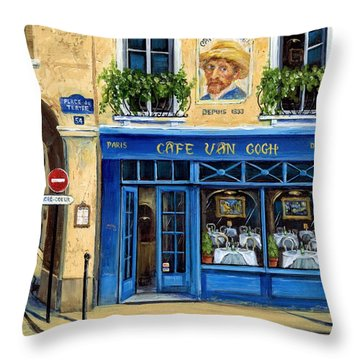 Cafe Van Gogh II Throw Pillow by Marilyn Dunlap