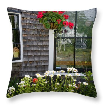 Cafe Windows Throw Pillow