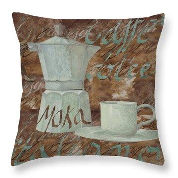 Caffe Espresso Throw Pillow by Guido Borelli