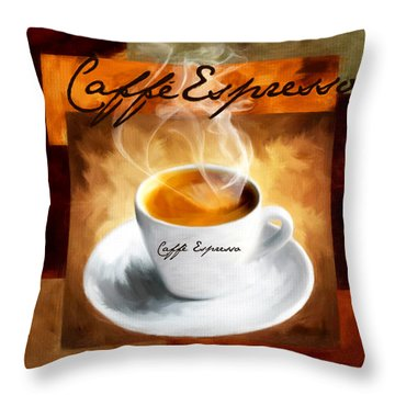 Caffe Espresso Throw Pillow