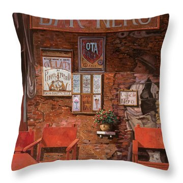 caffe Nero Throw Pillow by Guido Borelli