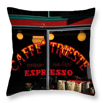 Caffe Trieste Espresso Window Throw Pillow