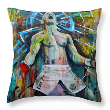 Cage Fighter Throw Pillow