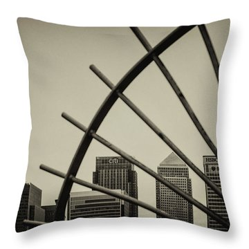 Caged Canary Throw Pillow