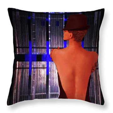 Throw Pillow featuring the photograph Caged Freedom-abstract Vision Fosse's Chicago by Renee Anderson