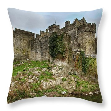 Throw Pillow featuring the photograph Cahir Castle by Marie Leslie