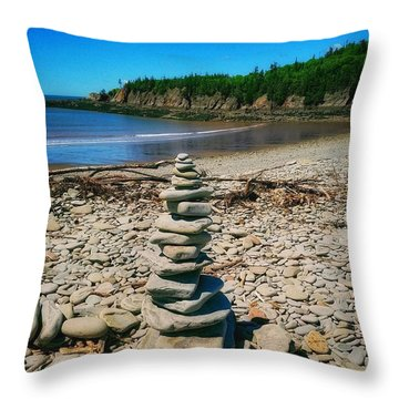 Cairn In Eastern Canada Throw Pillow