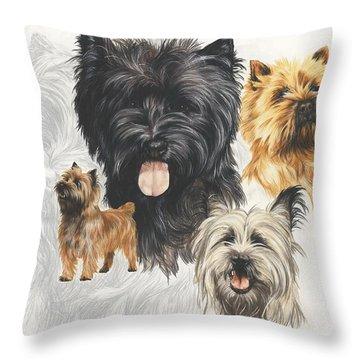 Cairn Terrier Revamp Throw Pillow