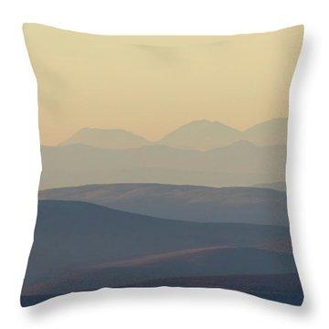 Cairngorms Sunset Throw Pillow