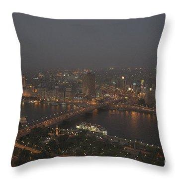 Cairo Smog Throw Pillow by Darcy Michaelchuk