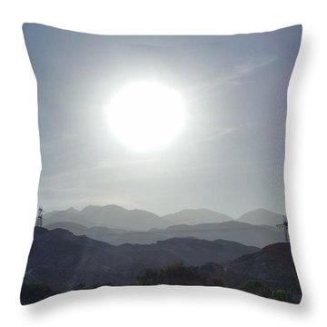 Cajon Pass Sunset Throw Pillow
