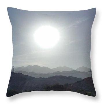 Cajon Pass Sunset Throw Pillow