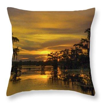 Cajun Gold Throw Pillow