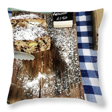 Cake Stall At A Market Throw Pillow