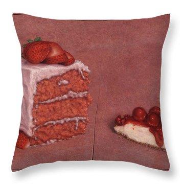 Cakefrontation Throw Pillow by James W Johnson