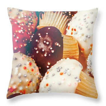 Cakes Of Confection Throw Pillow