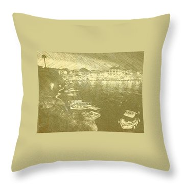 Cala Fonts At Night Throw Pillow