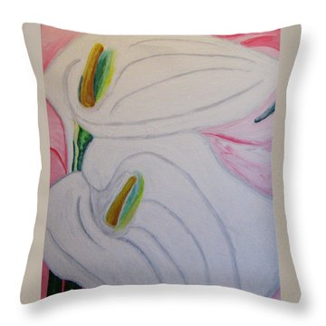 Cala Lillies Throw Pillow